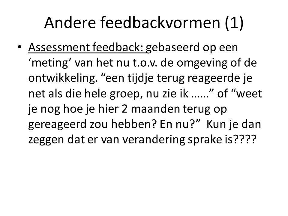 Andere feedbackvormen (1)