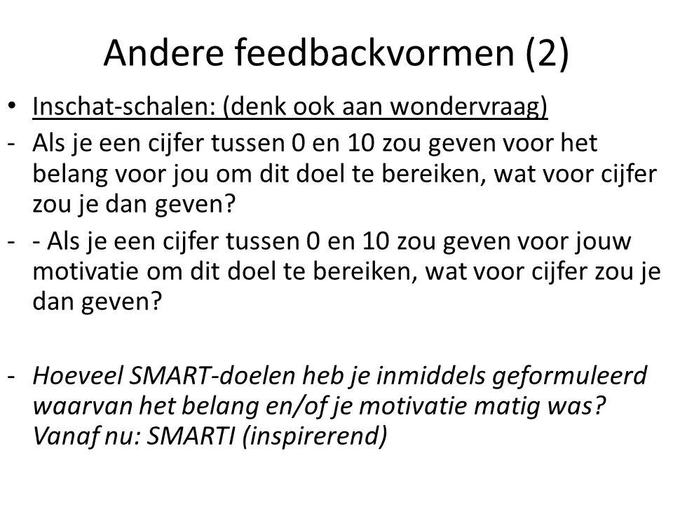 Andere feedbackvormen (2)