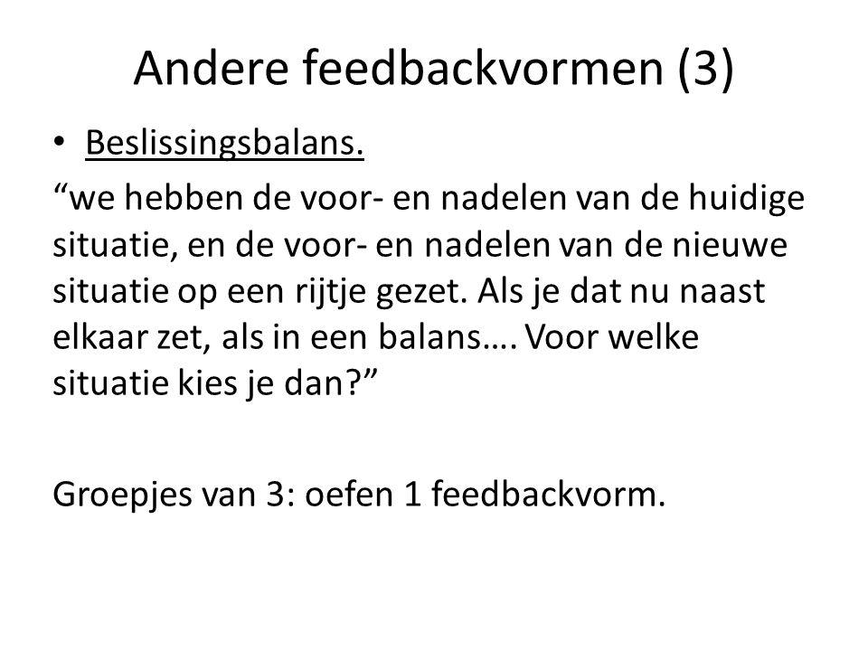 Andere feedbackvormen (3)