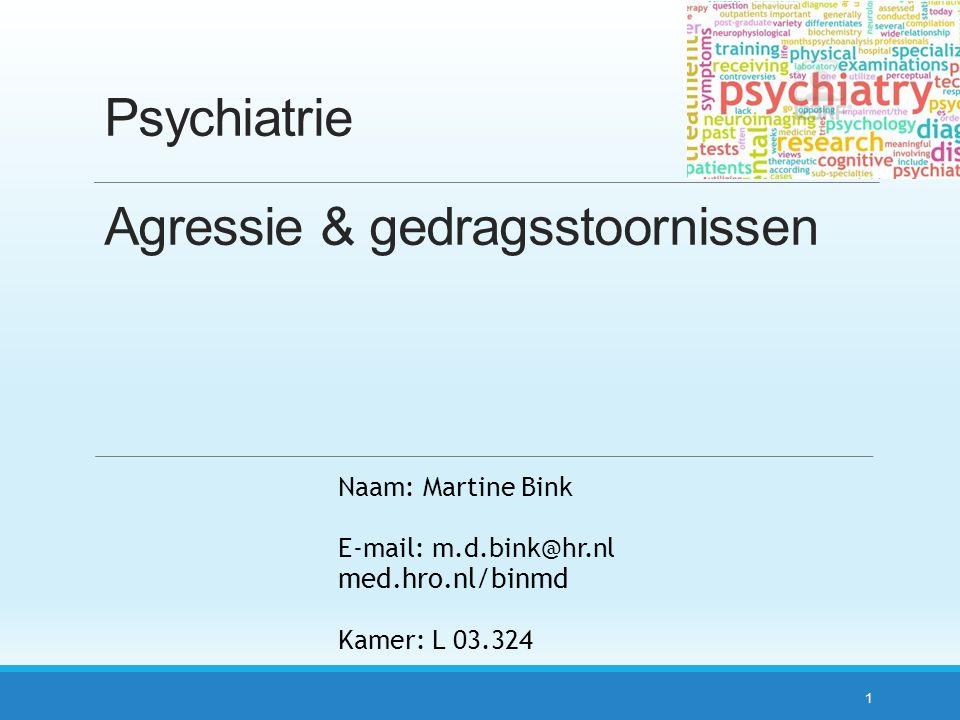 Psychiatrie Agressie & gedragsstoornissen
