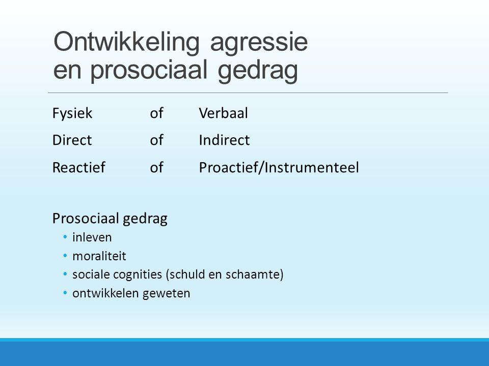 Ontwikkeling agressie en prosociaal gedrag