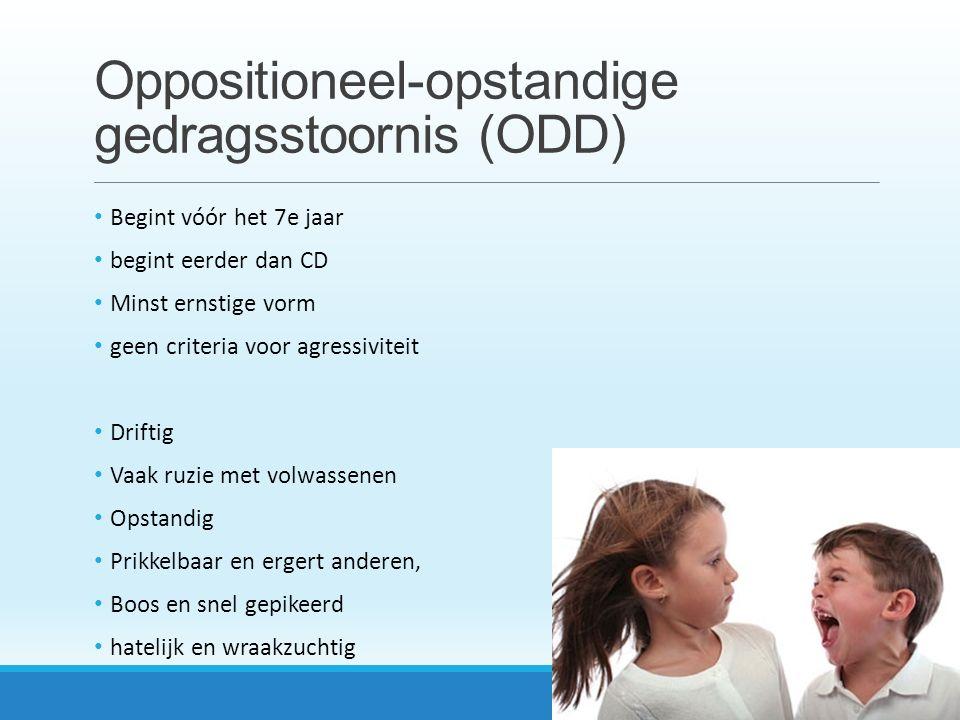 Oppositioneel-opstandige gedragsstoornis (ODD)