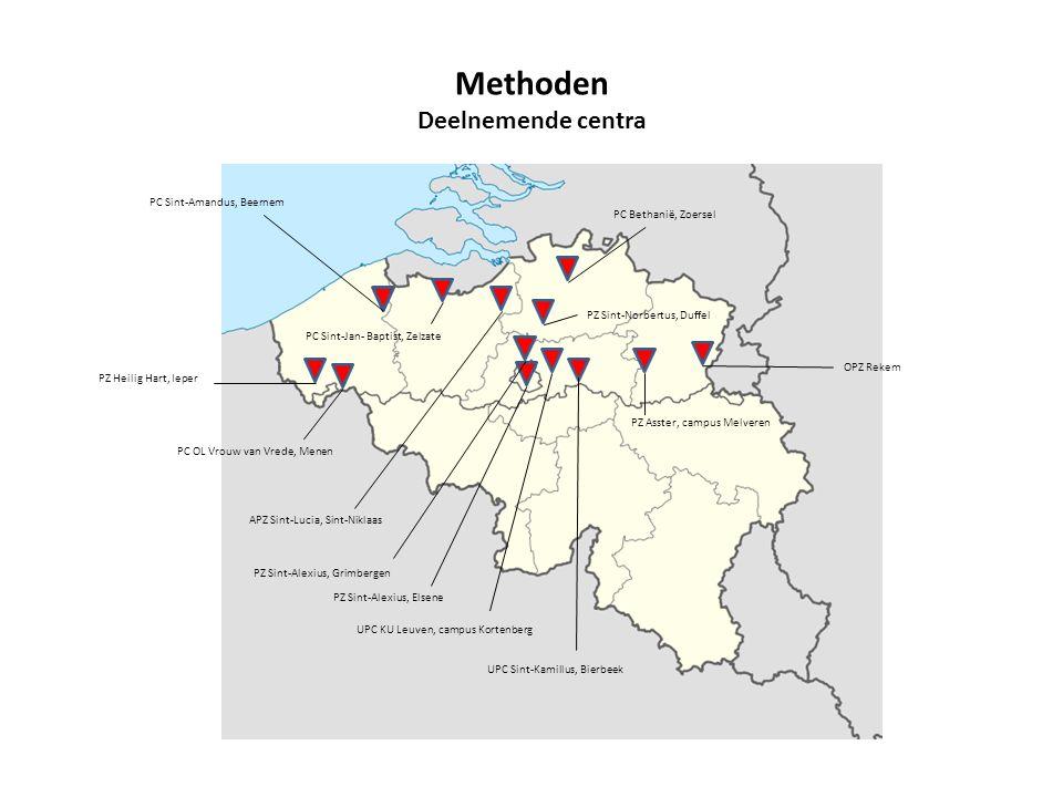Methoden Deelnemende centra