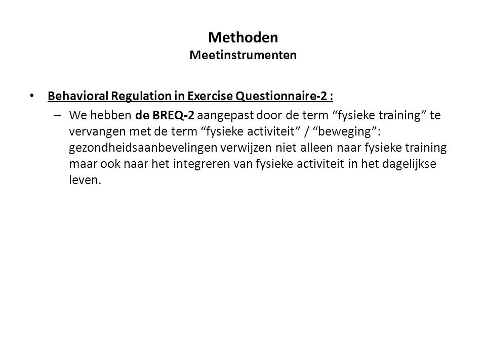 Methoden Meetinstrumenten