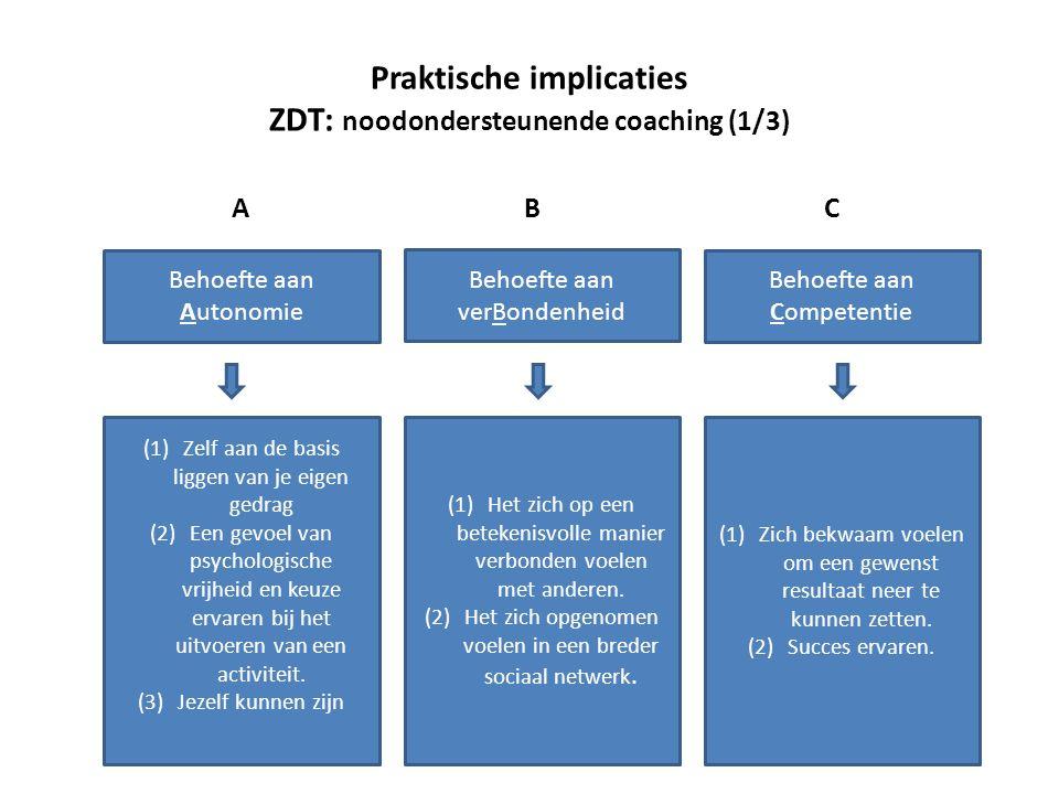 Praktische implicaties ZDT: noodondersteunende coaching (1/3)