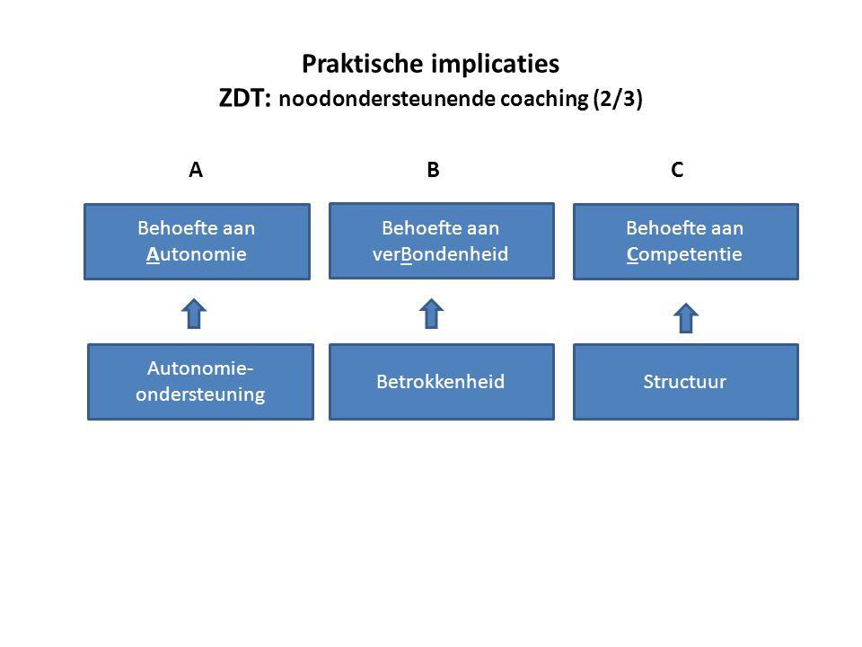 Praktische implicaties ZDT: noodondersteunende coaching (2/3)