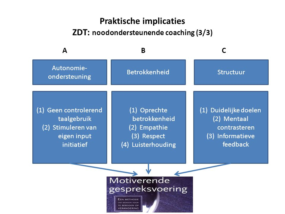 Praktische implicaties ZDT: noodondersteunende coaching (3/3)