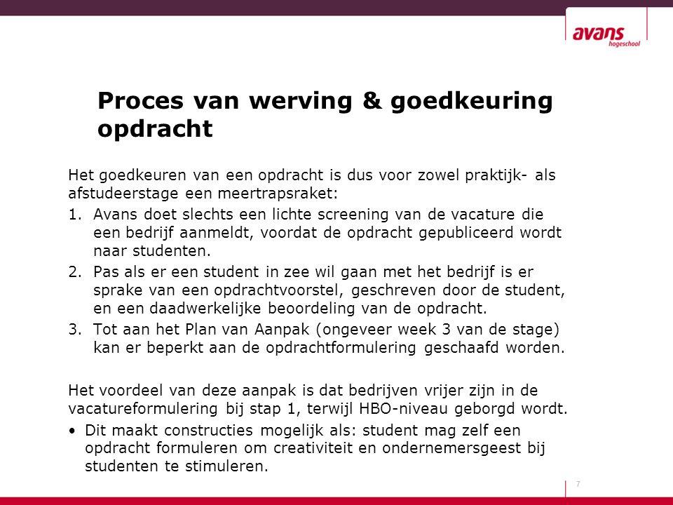 Proces van werving & goedkeuring opdracht