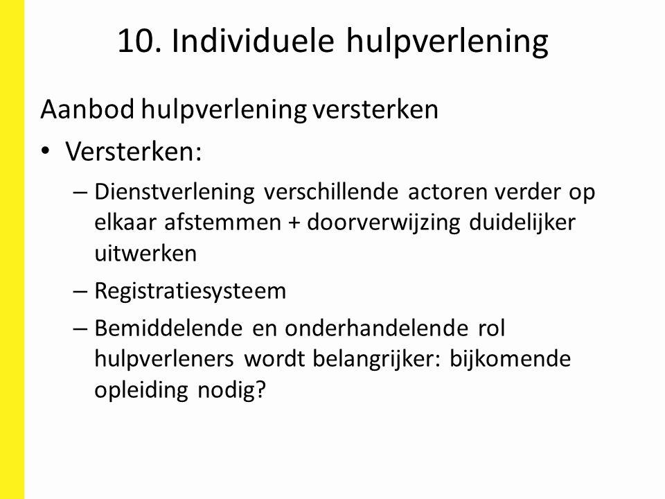 10. Individuele hulpverlening