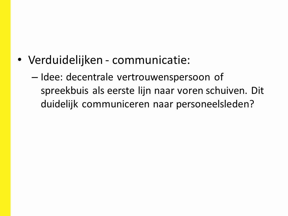 Verduidelijken - communicatie: