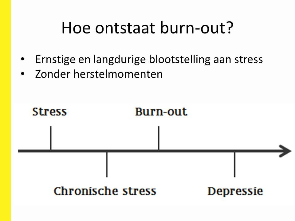 Hoe ontstaat burn-out Ernstige en langdurige blootstelling aan stress