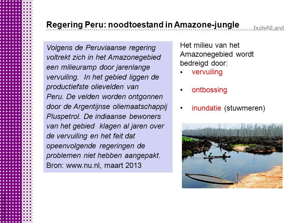 Regering Peru: noodtoestand in Amazone-jungle