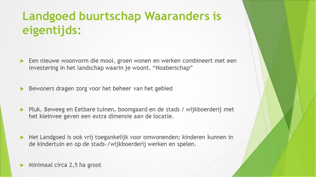 Landgoed buurtschap Waaranders is eigentijds: