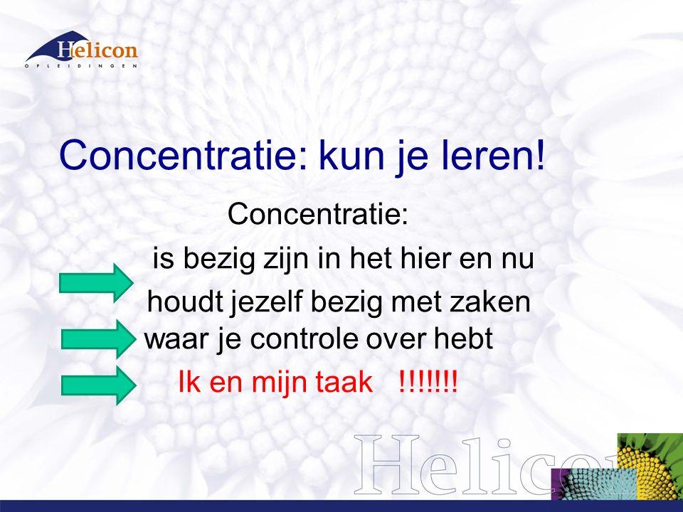 Concentratie: kun je leren!