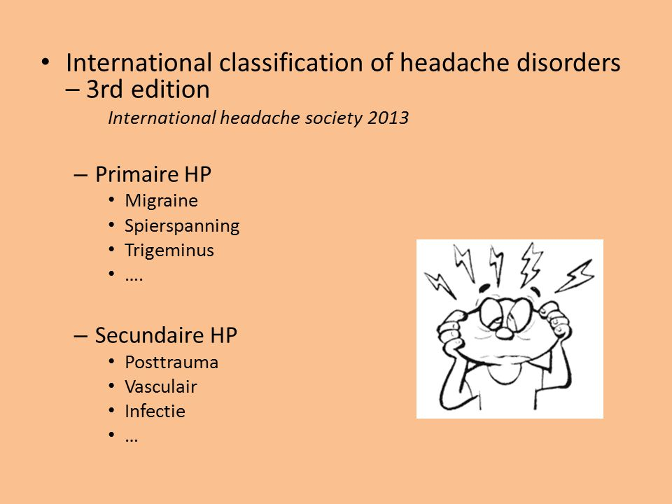 International classification of headache disorders – 3rd edition