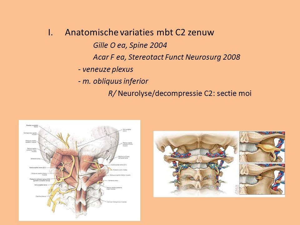 Anatomische variaties mbt C2 zenuw
