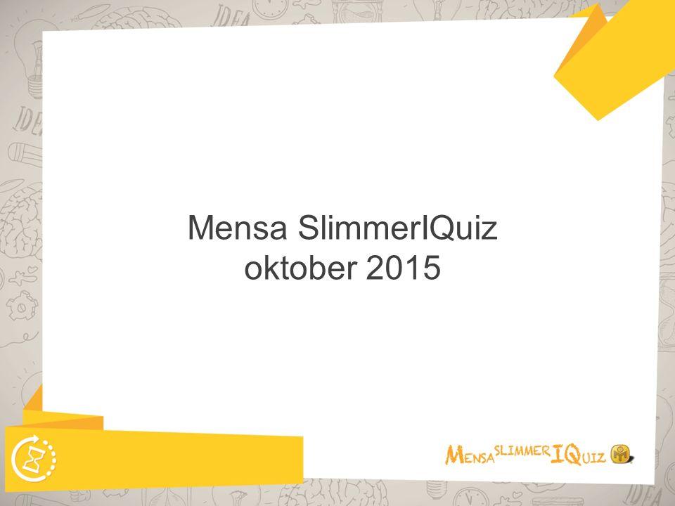 Mensa SlimmerIQuiz oktober 2015