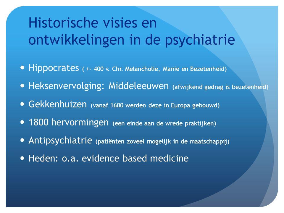 Historische visies en ontwikkelingen in de psychiatrie