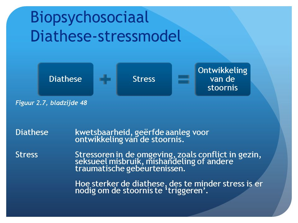 Biopsychosociaal Diathese-stressmodel