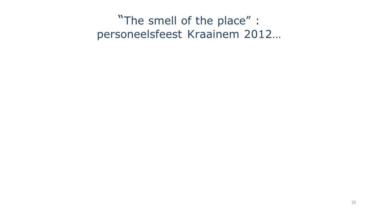 The smell of the place : personeelsfeest Kraainem 2012…