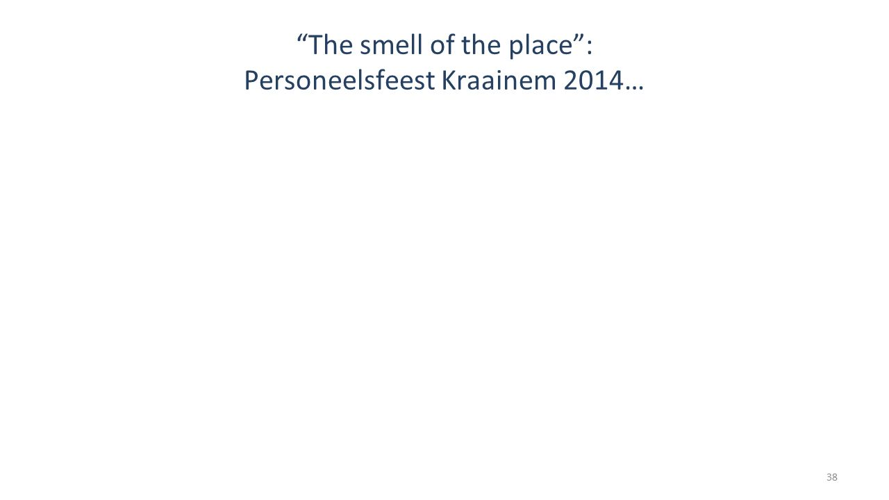 The smell of the place : Personeelsfeest Kraainem 2014…