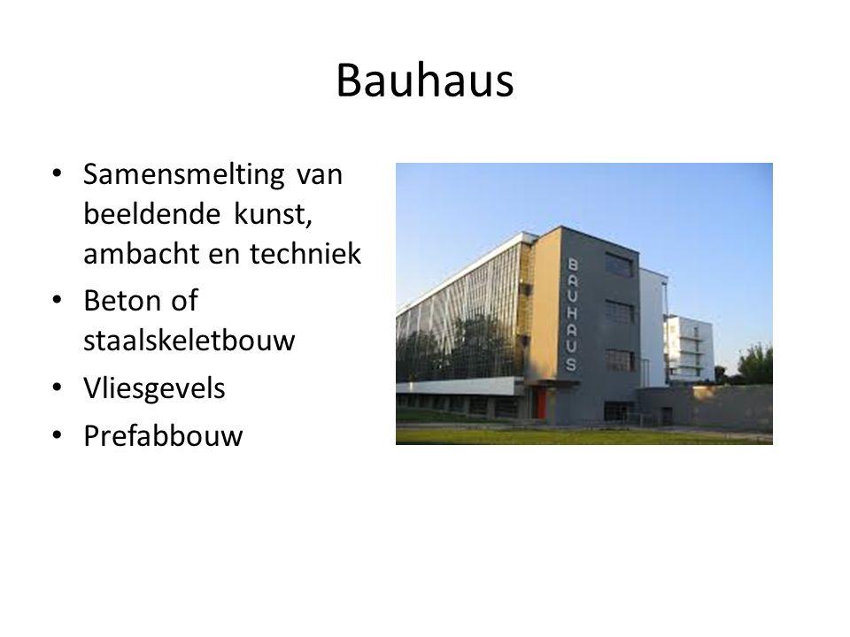 Bauhaus Samensmelting van beeldende kunst, ambacht en techniek