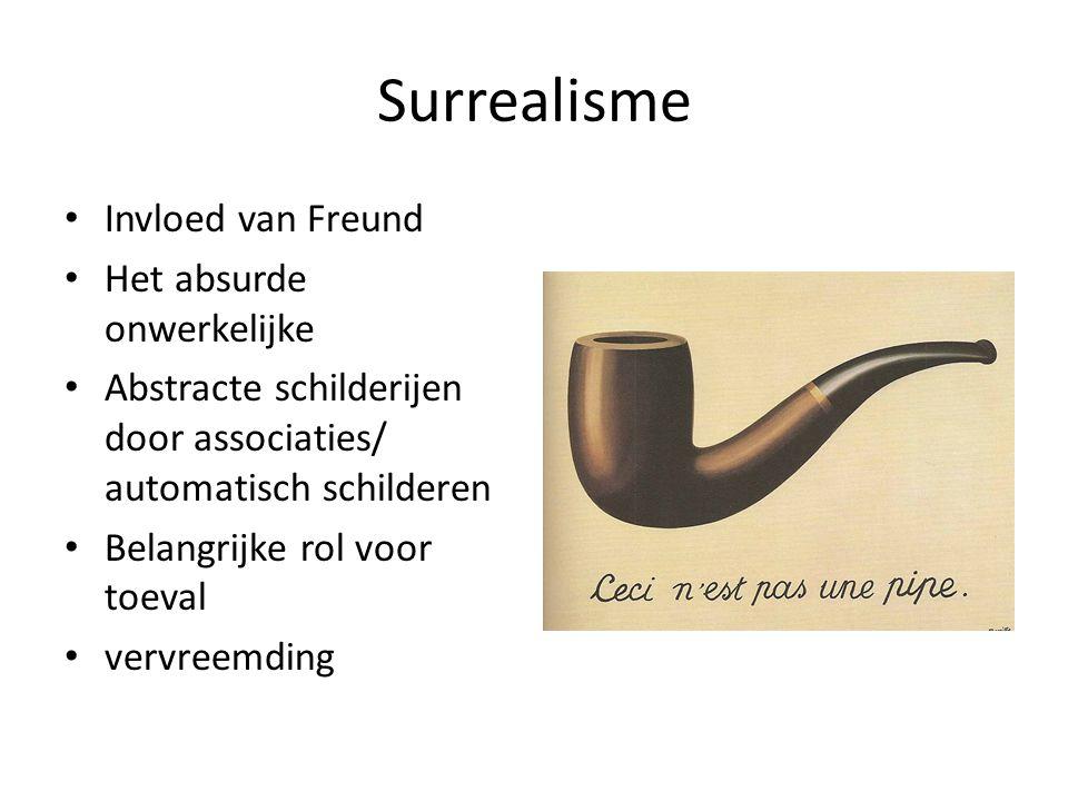 Surrealisme Invloed van Freund Het absurde onwerkelijke