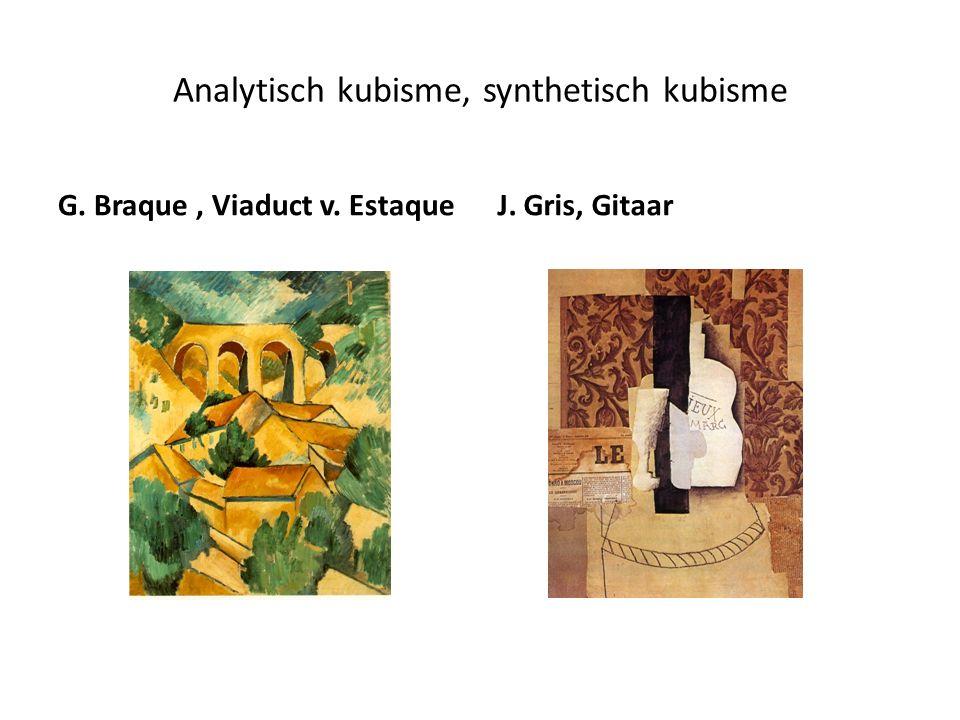 Analytisch kubisme, synthetisch kubisme