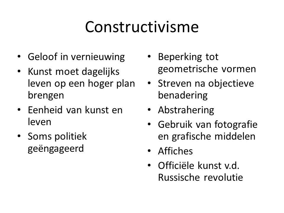 Constructivisme Geloof in vernieuwing