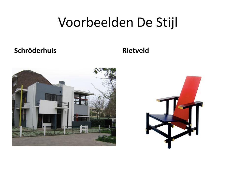 Voorbeelden De Stijl Schröderhuis Rietveld
