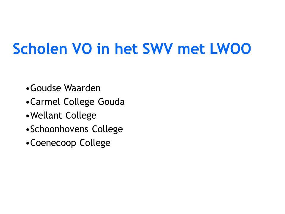 Scholen VO in het SWV met LWOO