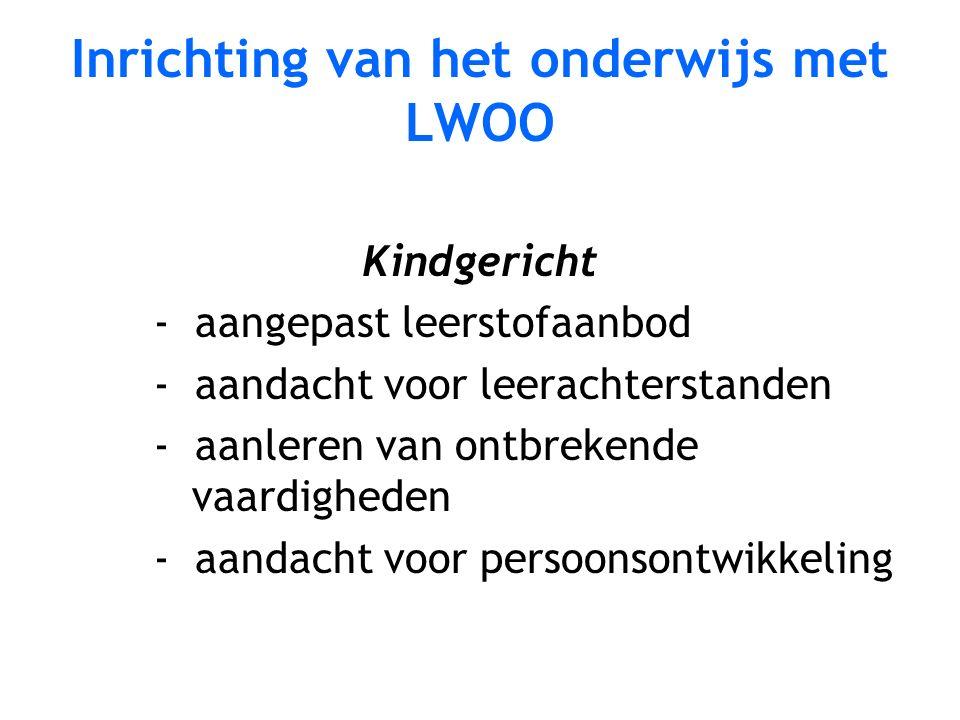 Inrichting van het onderwijs met LWOO