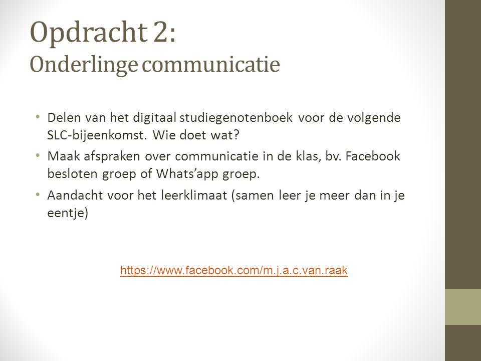 Opdracht 2: Onderlinge communicatie