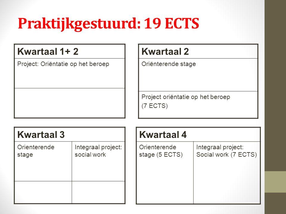 Praktijkgestuurd: 19 ECTS