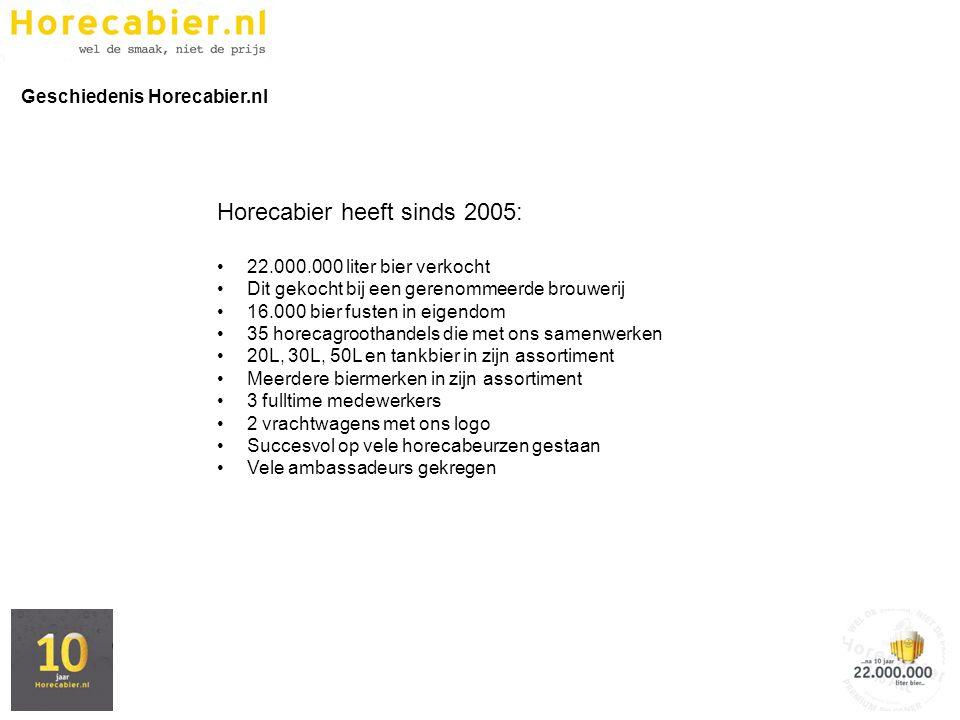 Horecabier heeft sinds 2005: