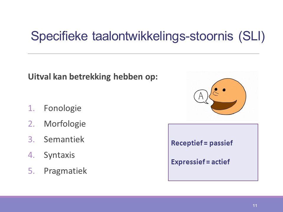Specifieke taalontwikkelings-stoornis (SLI)