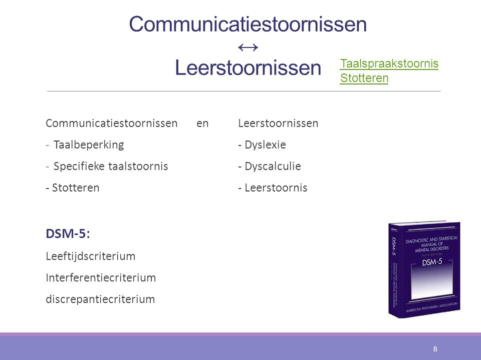Communicatiestoornissen ↔ Leerstoornissen