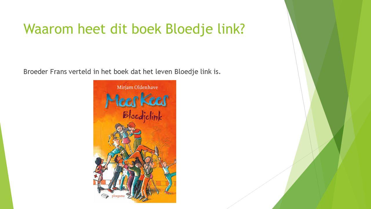 Waarom heet dit boek Bloedje link