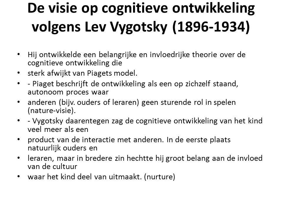 De visie op cognitieve ontwikkeling volgens Lev Vygotsky (1896-1934)