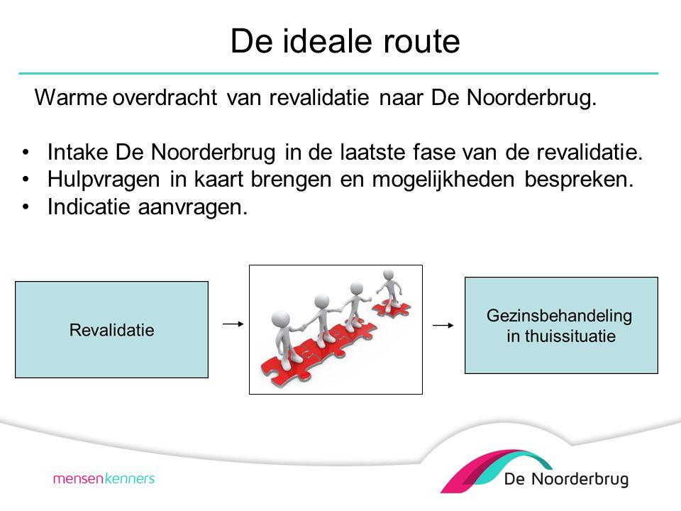 De ideale route Warme overdracht van revalidatie naar De Noorderbrug.