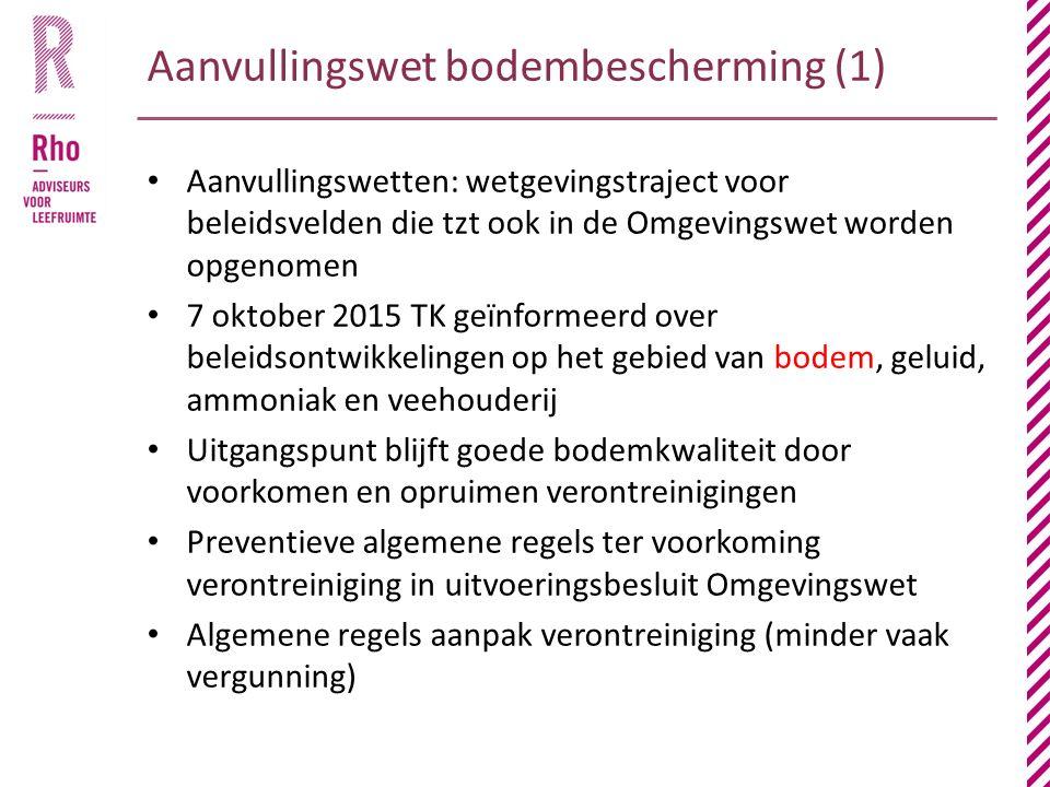 Aanvullingswet bodembescherming (1)