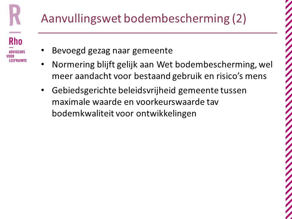 Aanvullingswet bodembescherming (2)