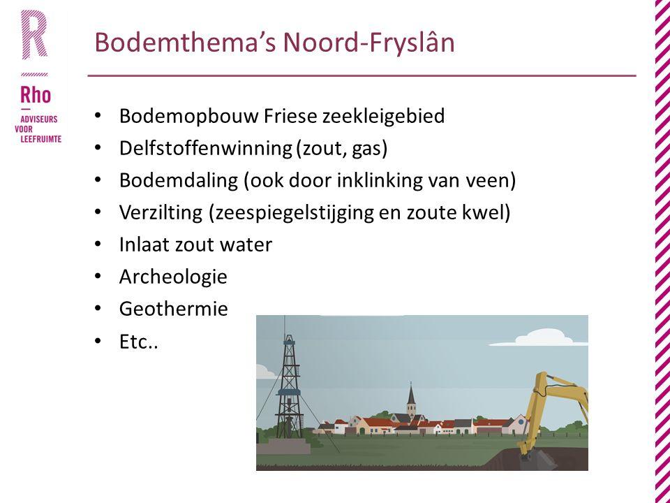 Bodemthema's Noord-Fryslân