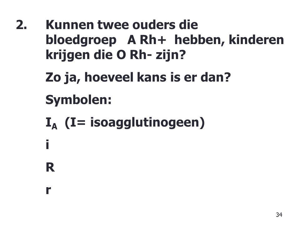 Kunnen twee ouders die. bloedgroep A Rh+ hebben, kinderen