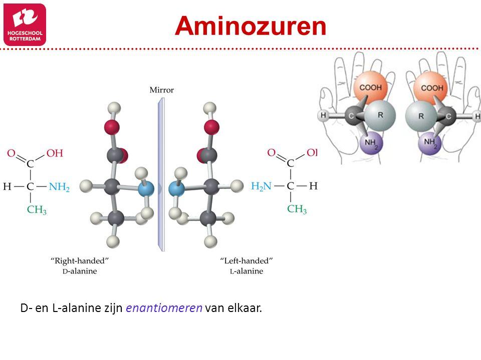 Aminozuren D- en L-alanine zijn enantiomeren van elkaar. Figure: 24-03