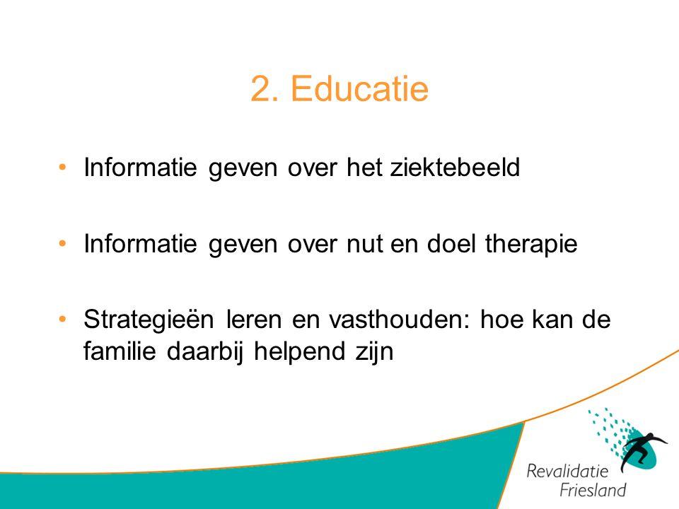 2. Educatie Informatie geven over het ziektebeeld
