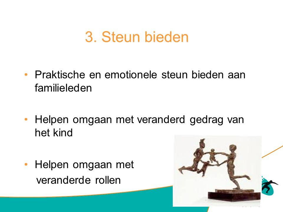 3. Steun bieden Praktische en emotionele steun bieden aan familieleden