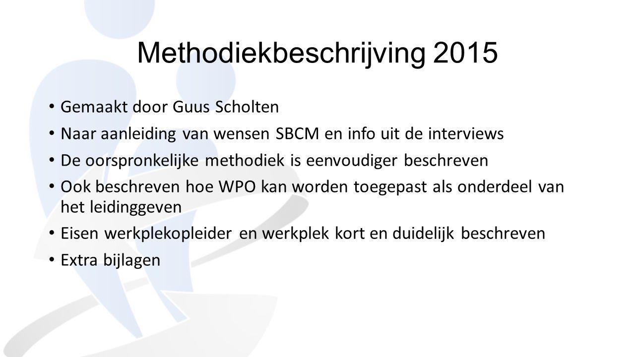 Methodiekbeschrijving 2015