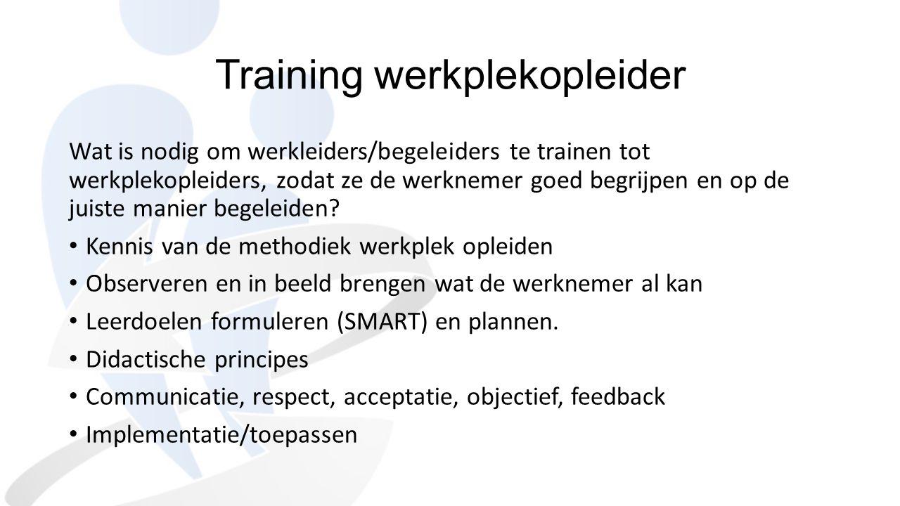 Training werkplekopleider