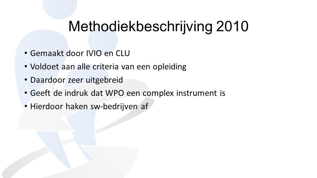 Methodiekbeschrijving 2010